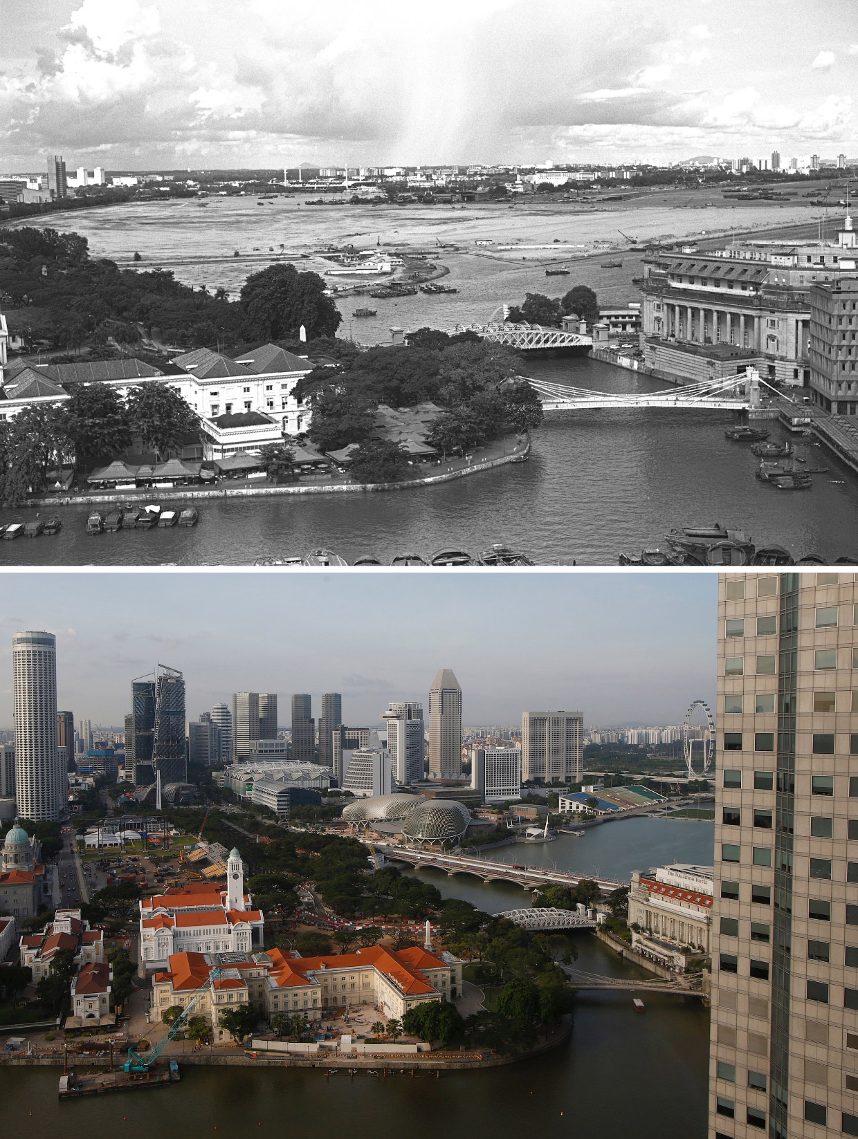 22 Incredible Before and After Pictures that Reveal the Old pictures of singapore history