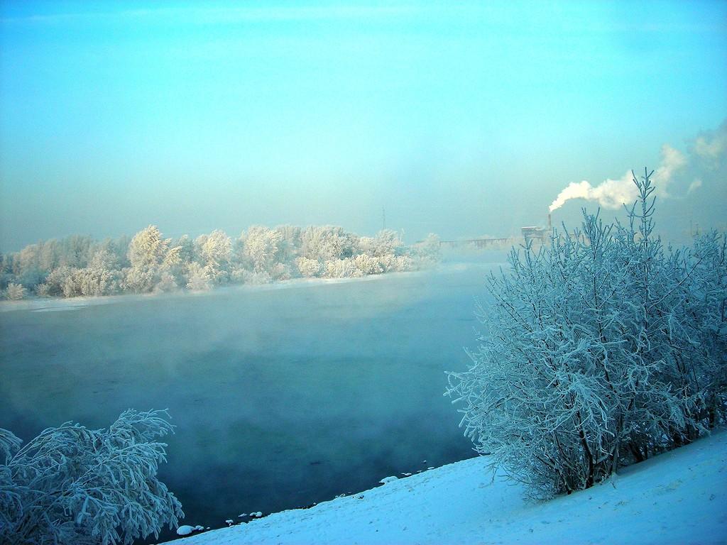 Голубая зима. Россия. Красноярск