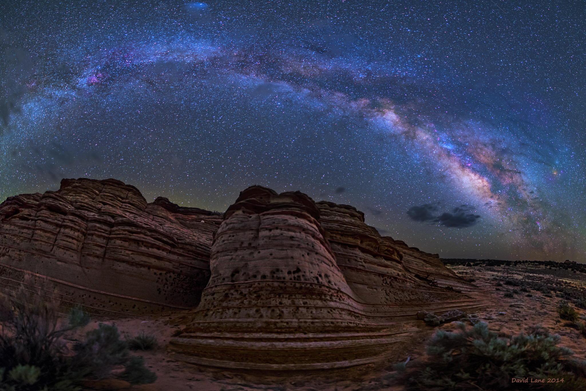 Млечный путь из Йеллоустонского парка на фото David Lane