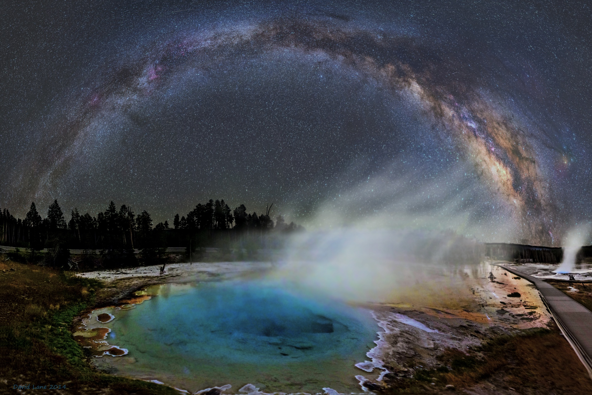 Milky way from Yellowstone Park-12