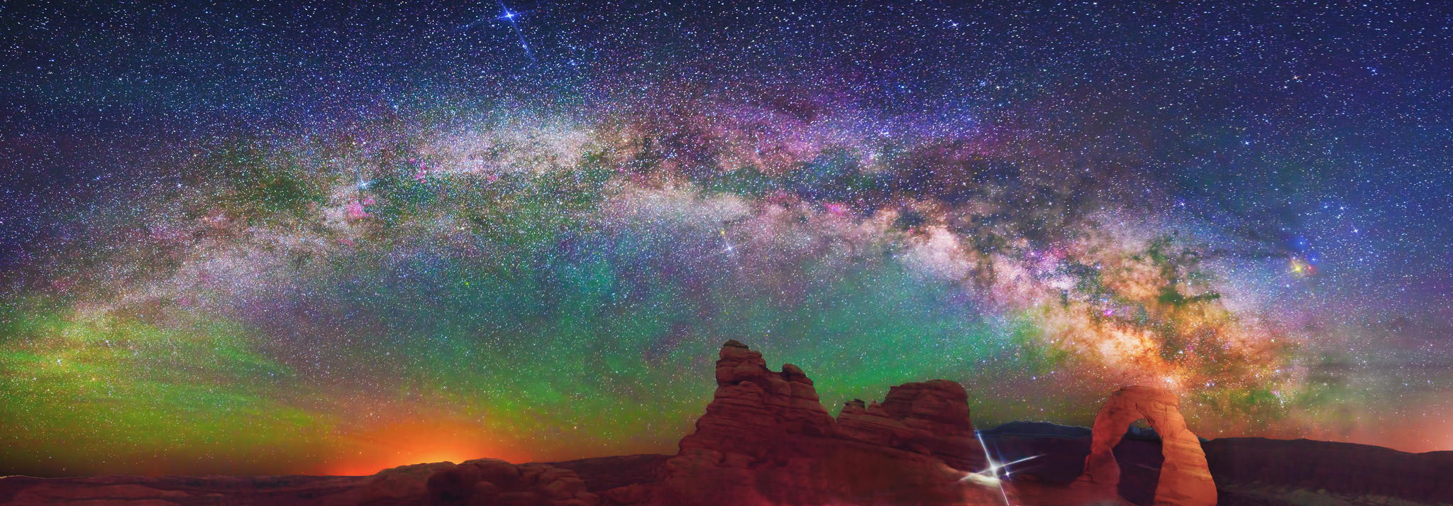 Milky way from Yellowstone Park-16