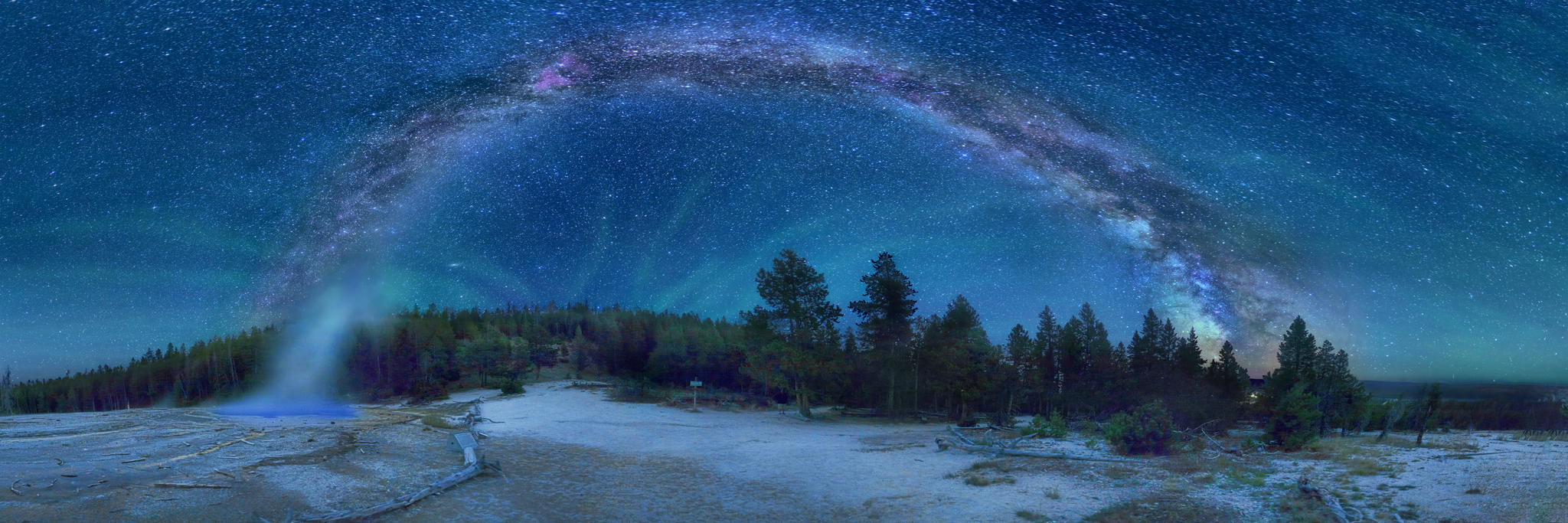Milky way from Yellowstone Park-17