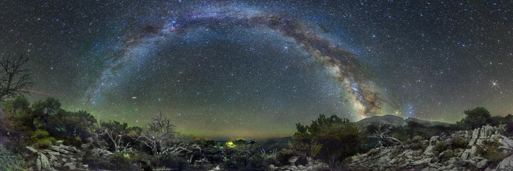 Milky way from Yellowstone Park-18