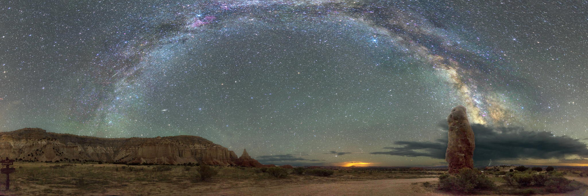 Milky way from Yellowstone Park-19