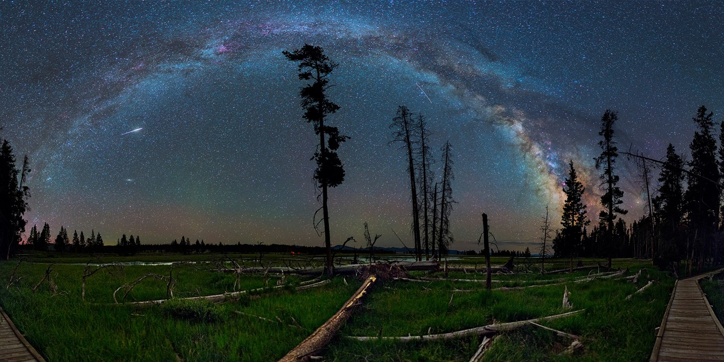 Milky way from Yellowstone Park-22