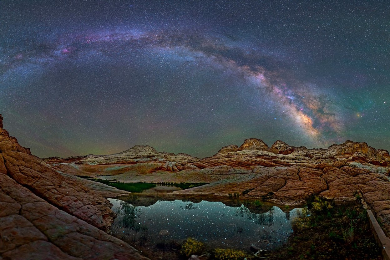 Milky way from Yellowstone Park-28