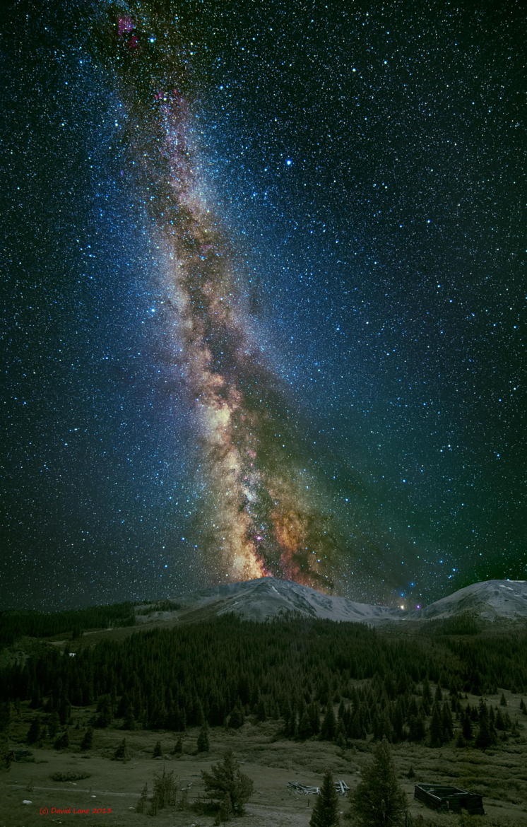 Milky way from Yellowstone Park-46