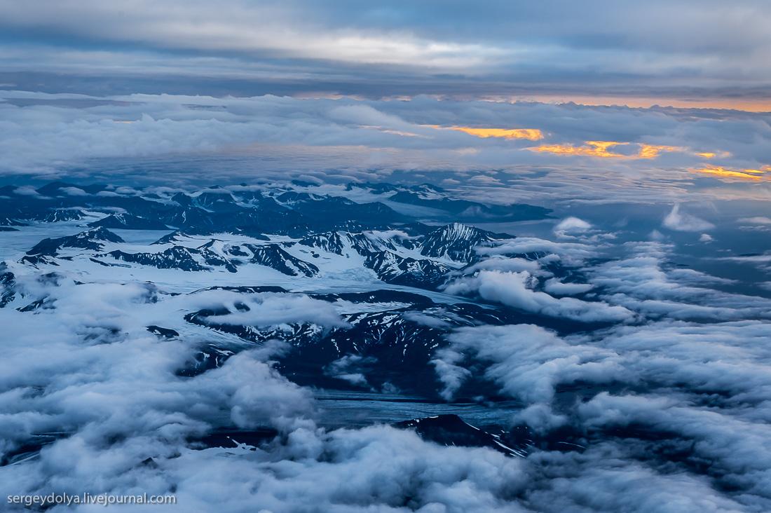 Бесконечно красивые виды перелета на Шпицберген