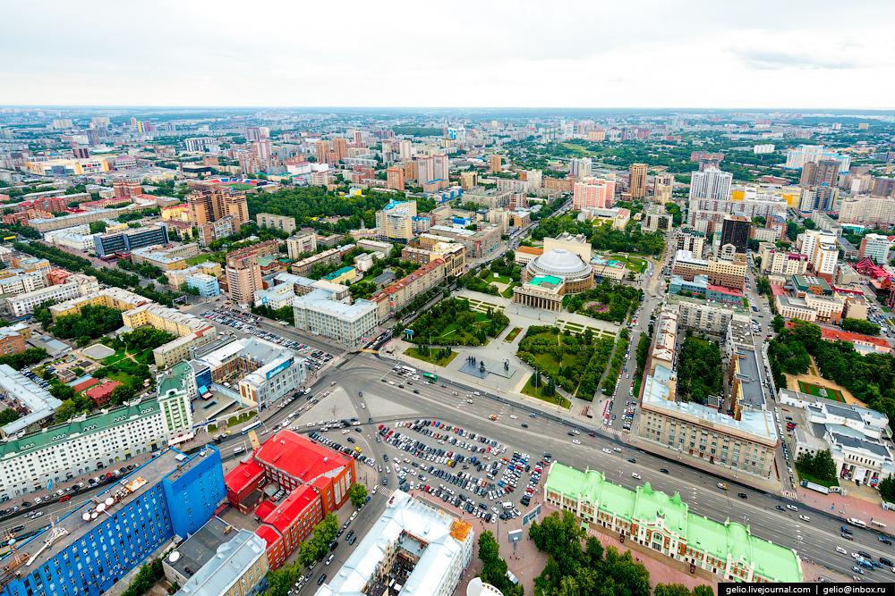Новосибирск с вертолета. Лето 2015