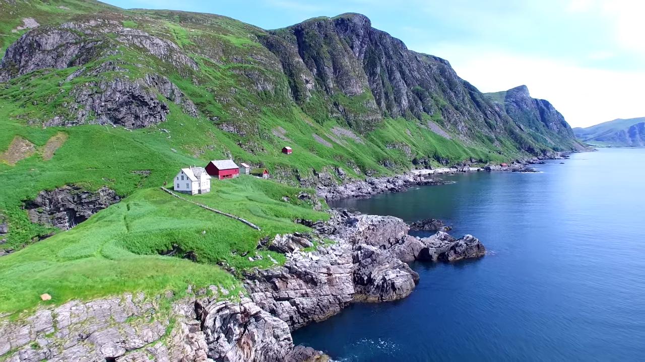 Живописная Норвегия с высоты полета