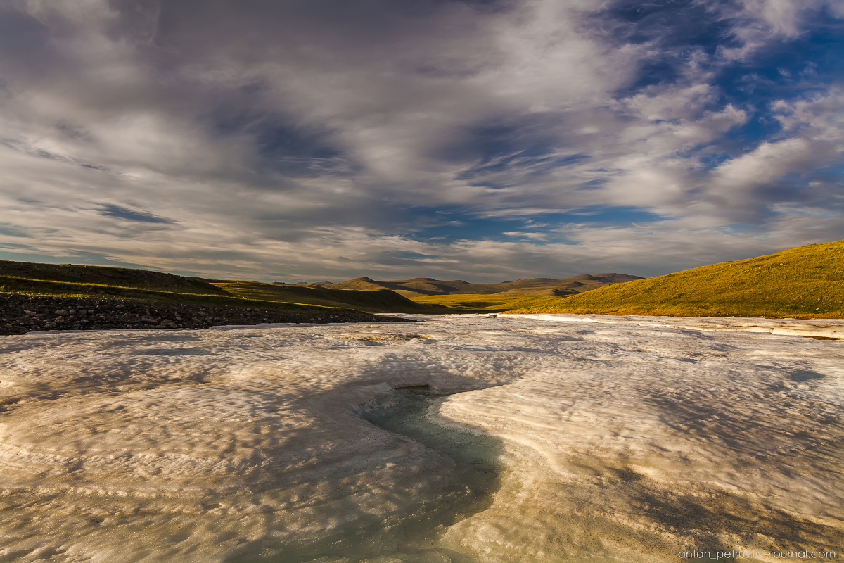 The time of sunset. The Ukok Plateau_04