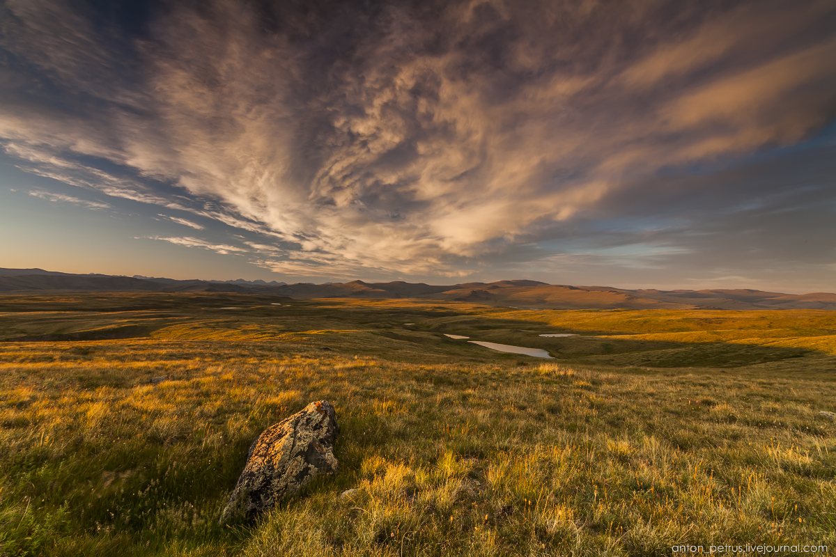 The time of sunset. The Ukok Plateau_06