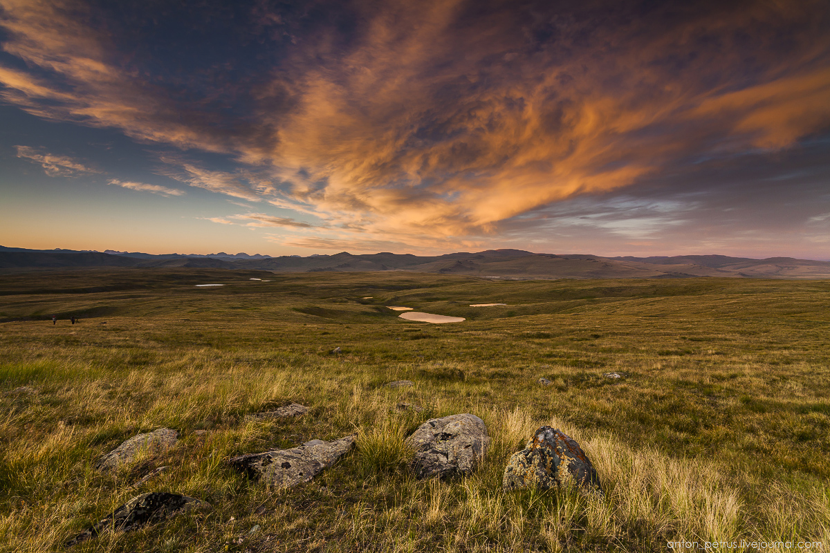 The time of sunset. The Ukok Plateau_08