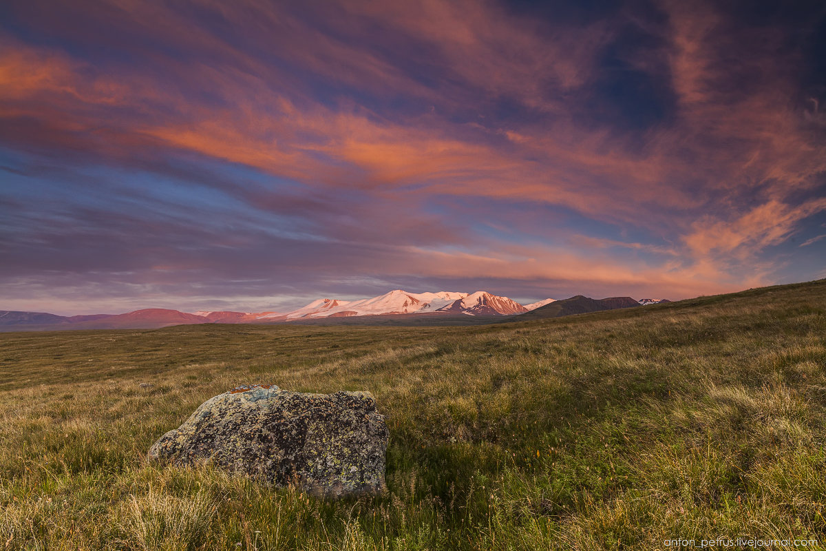 The time of sunset. The Ukok Plateau_10