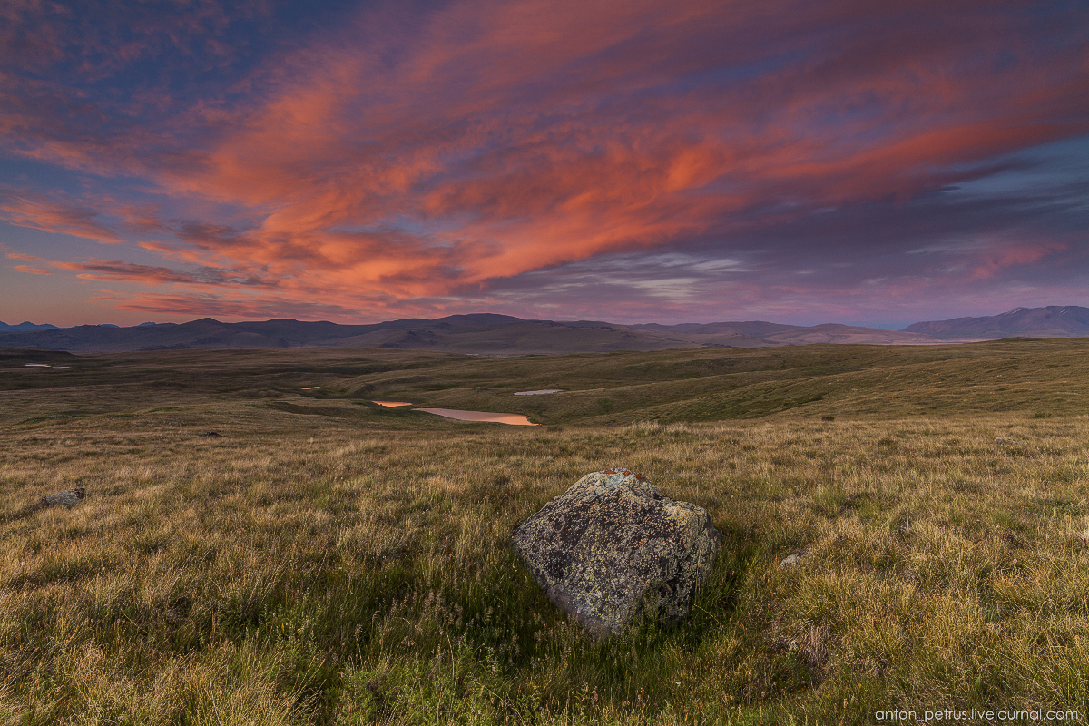 The time of sunset. The Ukok Plateau_11