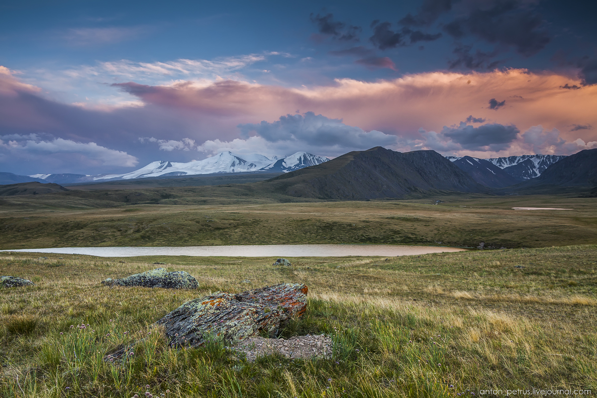 The time of sunset. The Ukok Plateau_15