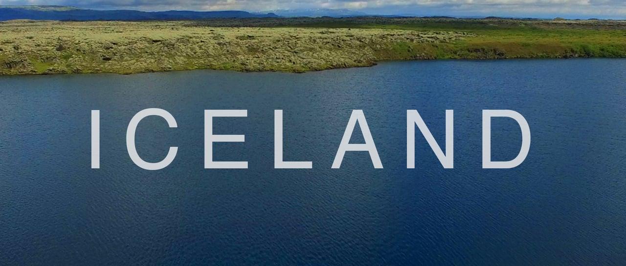 Потрясающие видеокадры о красивой и удивительной природе Исландии отснятые с помощью дрона