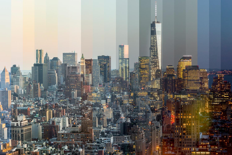 Временной срез: фотографии знаковых достопримечательностей Нью-Йорка от восхода до заката
