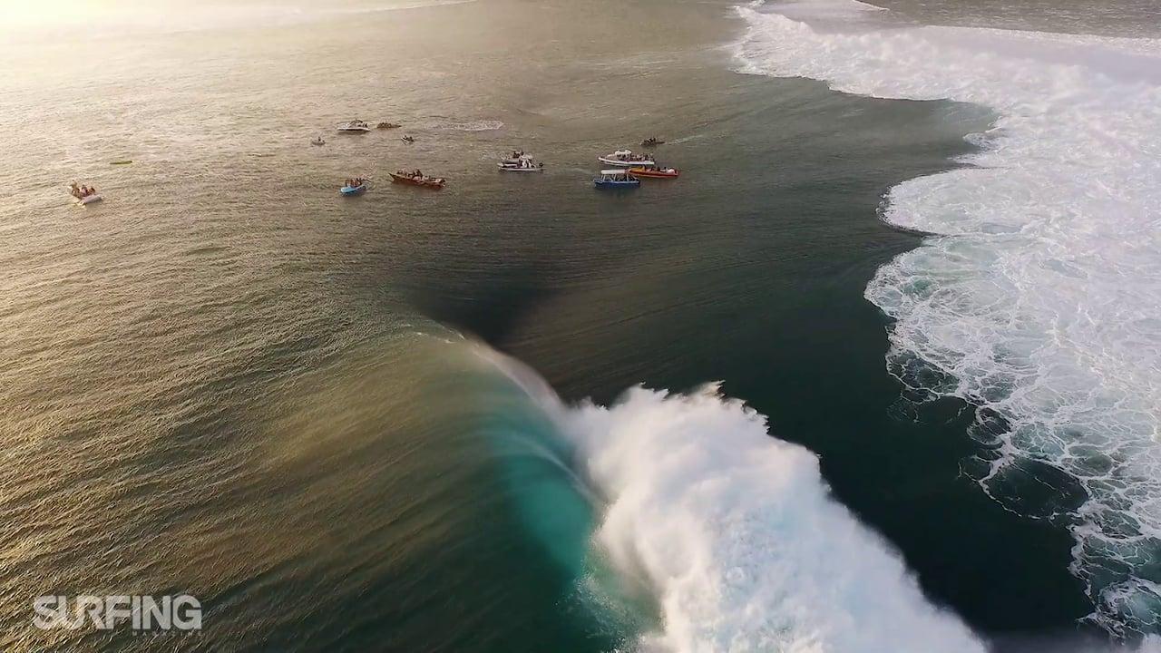 Видео о серфингистах рассекающих волны