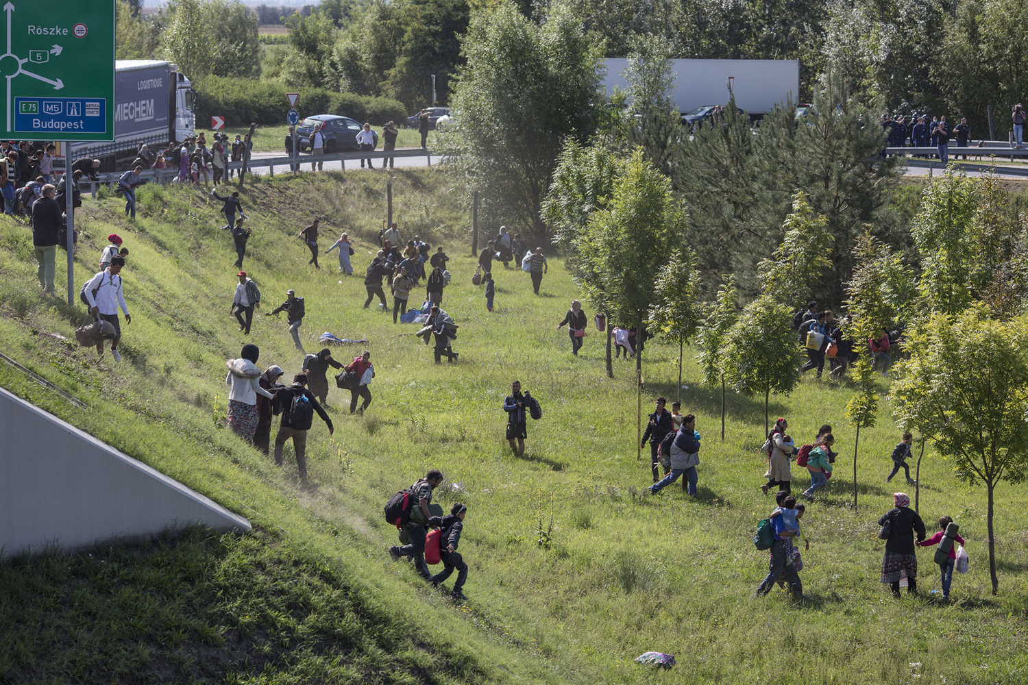 The path of migrants in Europe 14