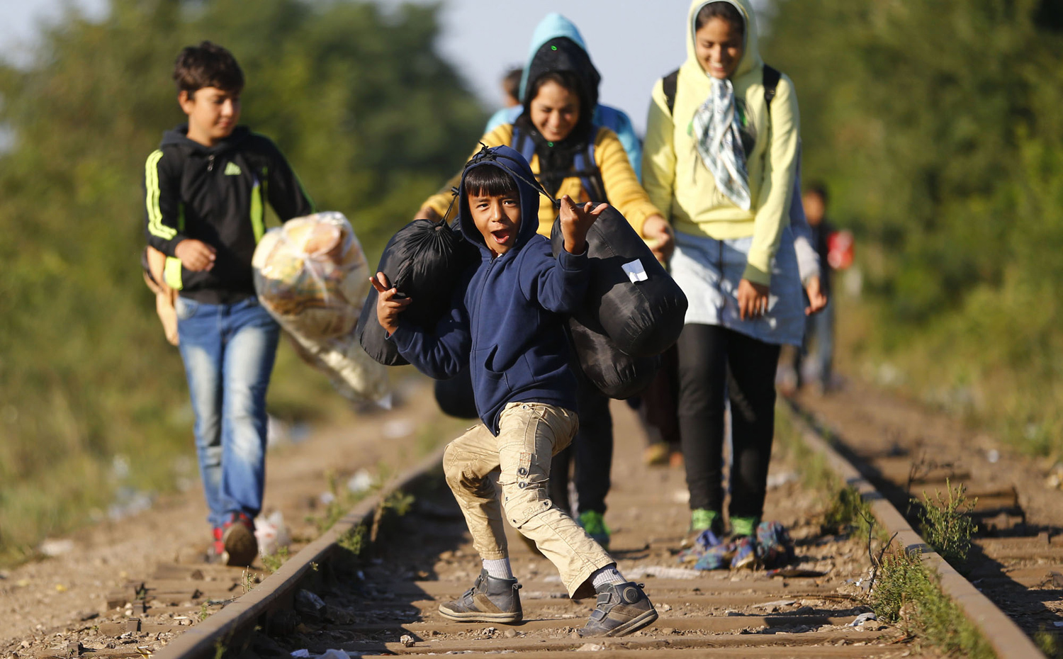 The path of migrants in Europe 35