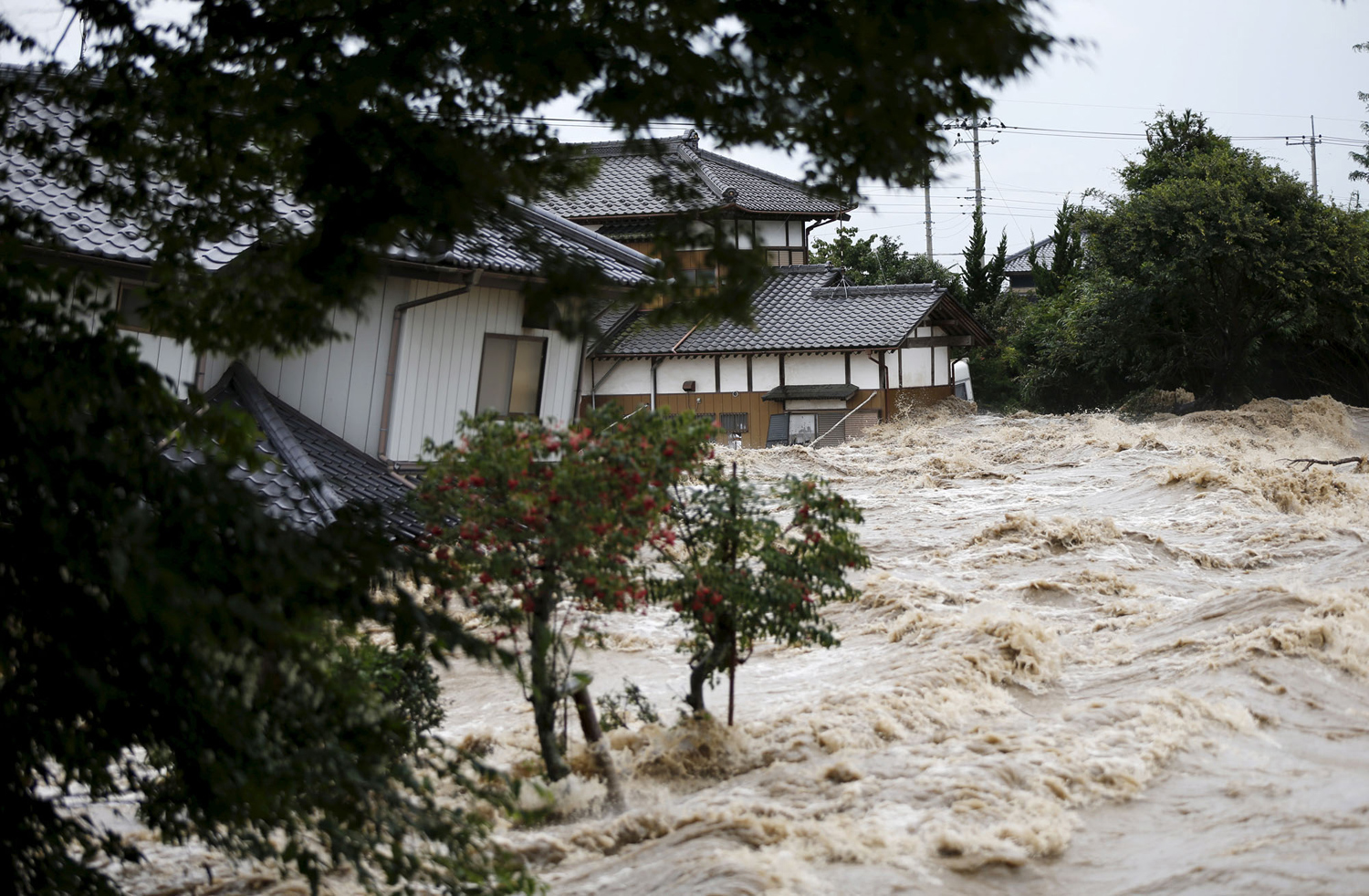 Typhoon Etau Triggers Flooding in Japan 05