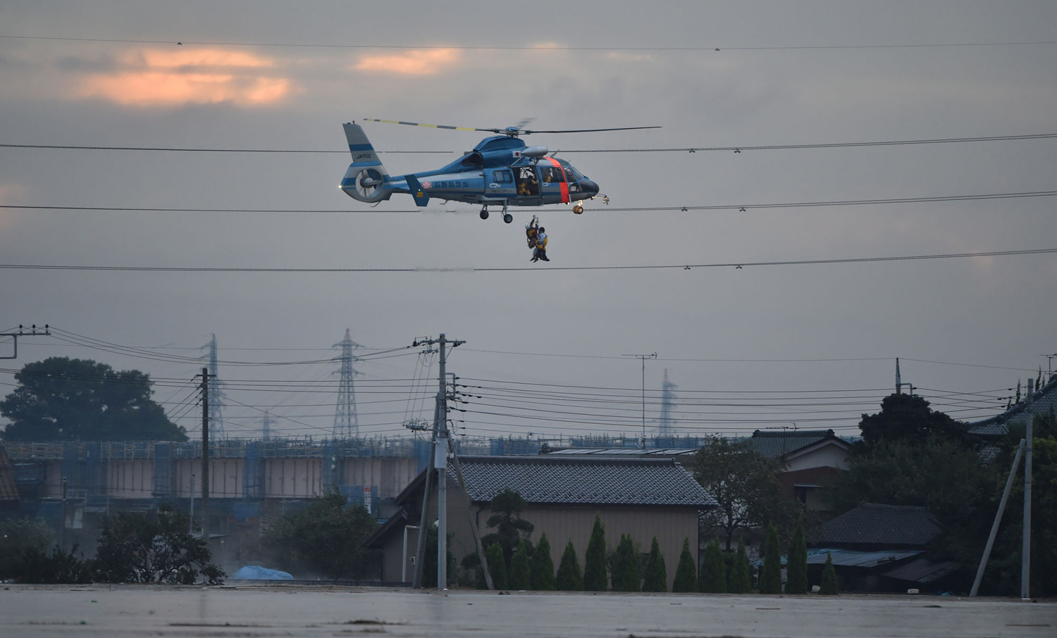 Typhoon Etau Triggers Flooding in Japan 14