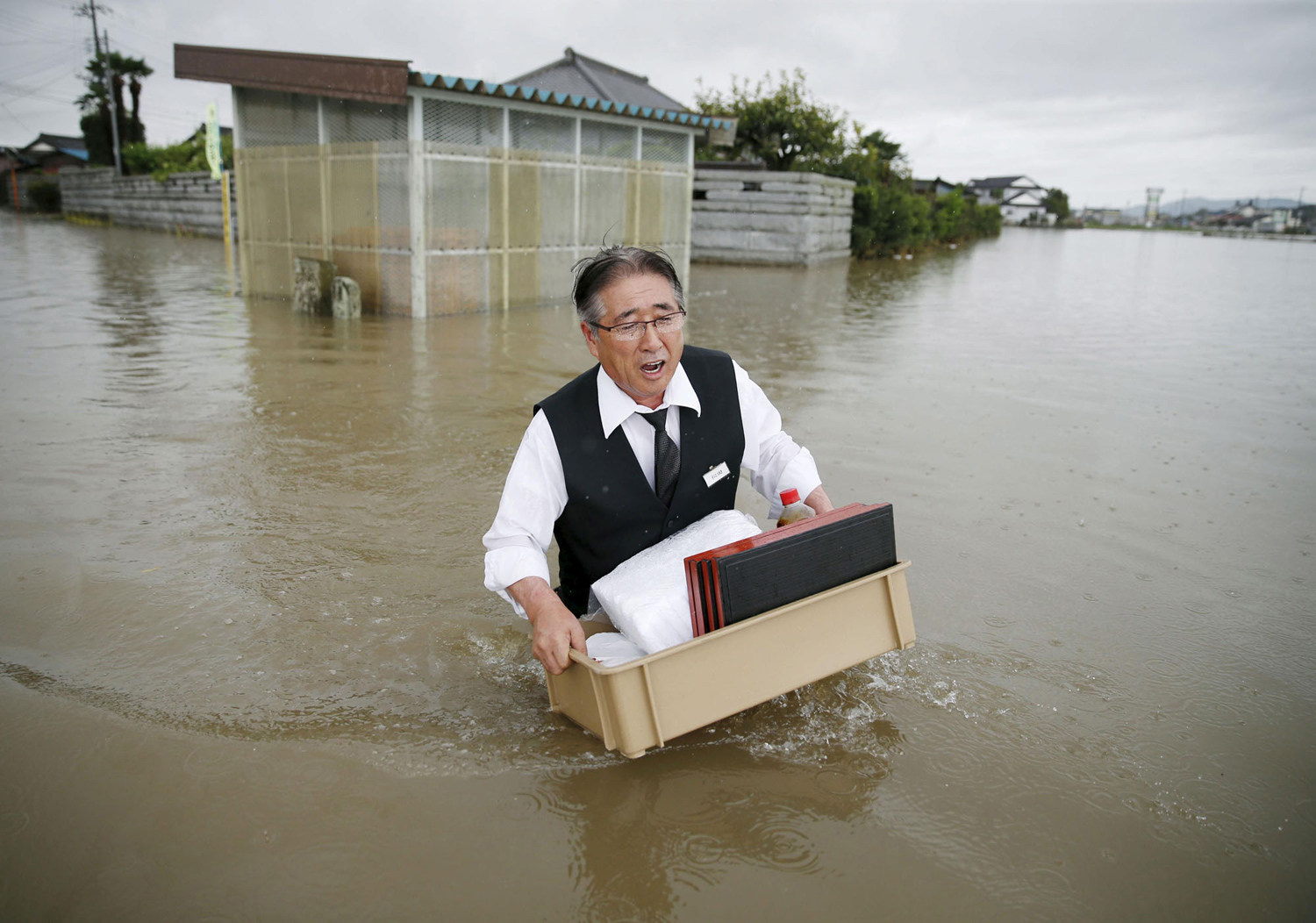 Typhoon Etau Triggers Flooding in Japan 15