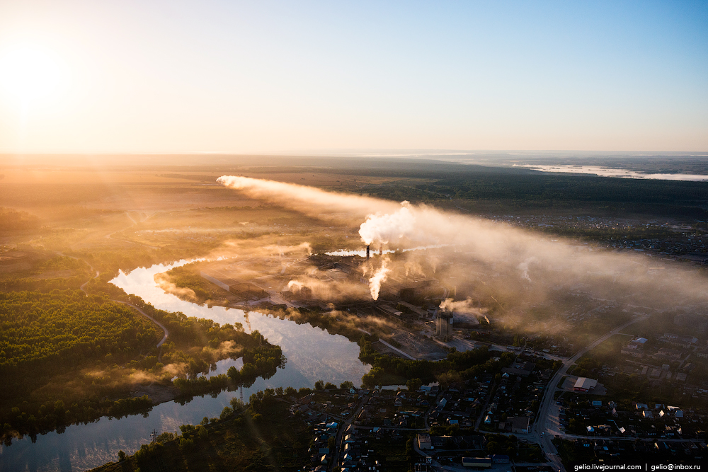 Flight over Novosibirsk region. Berd rocks 09