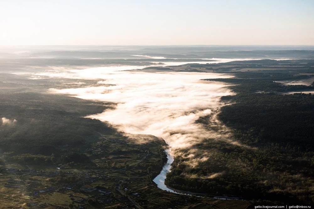 Flight over Novosibirsk region. Berd rocks 11