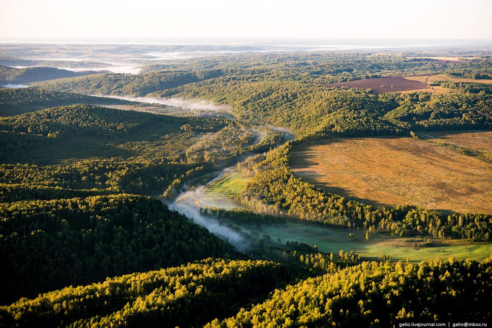 Flight over Novosibirsk region. Berd rocks 12