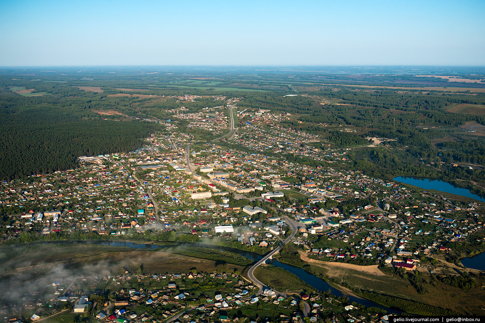 Flight over Novosibirsk region. Berd rocks 17
