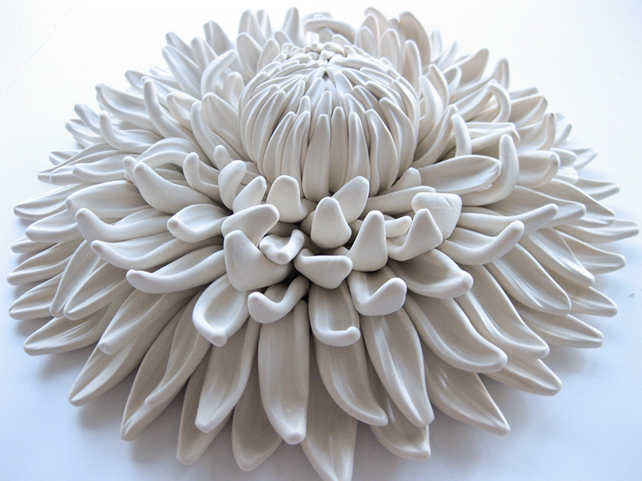 Polymer Flower Sculptures and Tiles by Angela Schwer 00