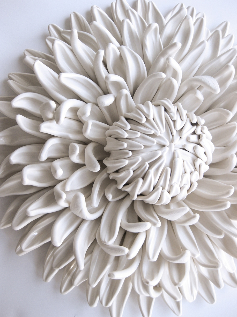 Polymer Flower Sculptures and Tiles by Angela Schwer 01