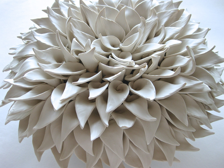 Polymer Flower Sculptures and Tiles by Angela Schwer 05