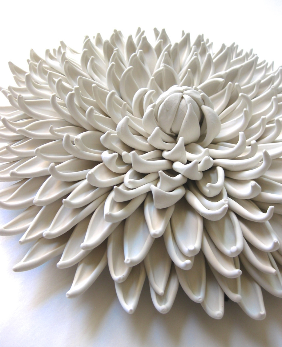 Polymer Flower Sculptures and Tiles by Angela Schwer 06