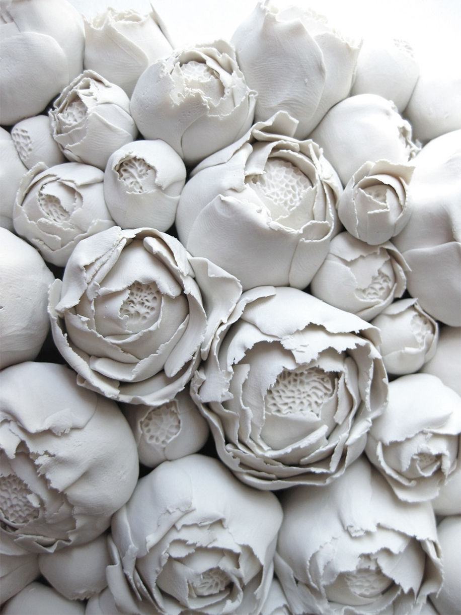 Polymer Flower Sculptures and Tiles by Angela Schwer 08