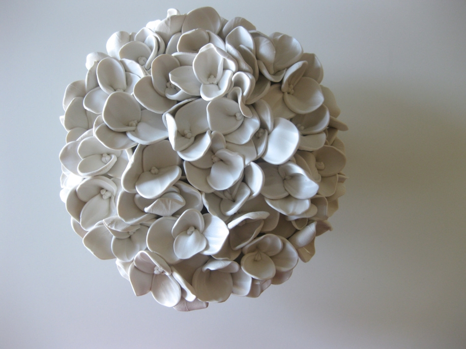 Polymer Flower Sculptures and Tiles by Angela Schwer 10