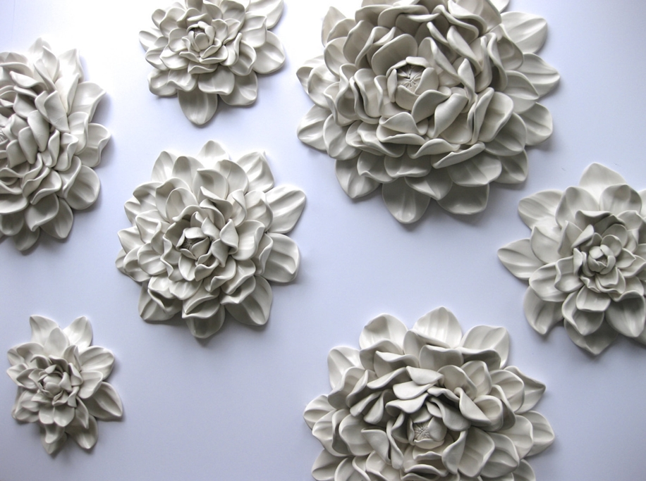 Polymer Flower Sculptures and Tiles by Angela Schwer 11