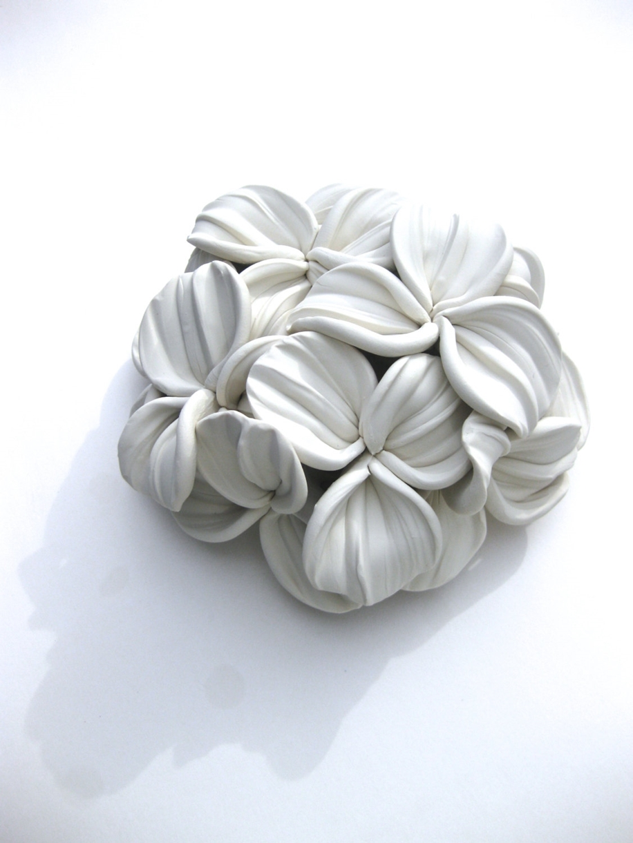 Polymer Flower Sculptures and Tiles by Angela Schwer 13