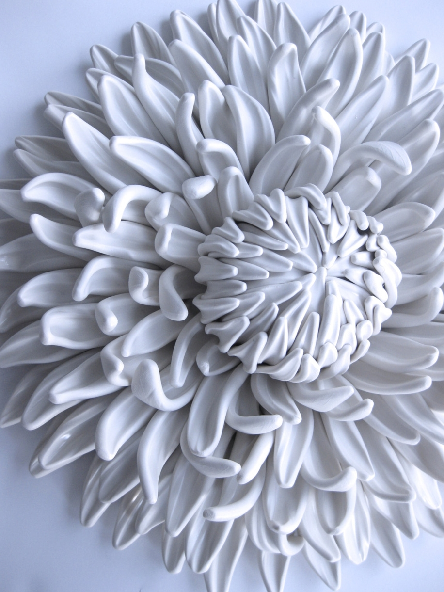 Polymer Flower Sculptures and Tiles by Angela Schwer 15