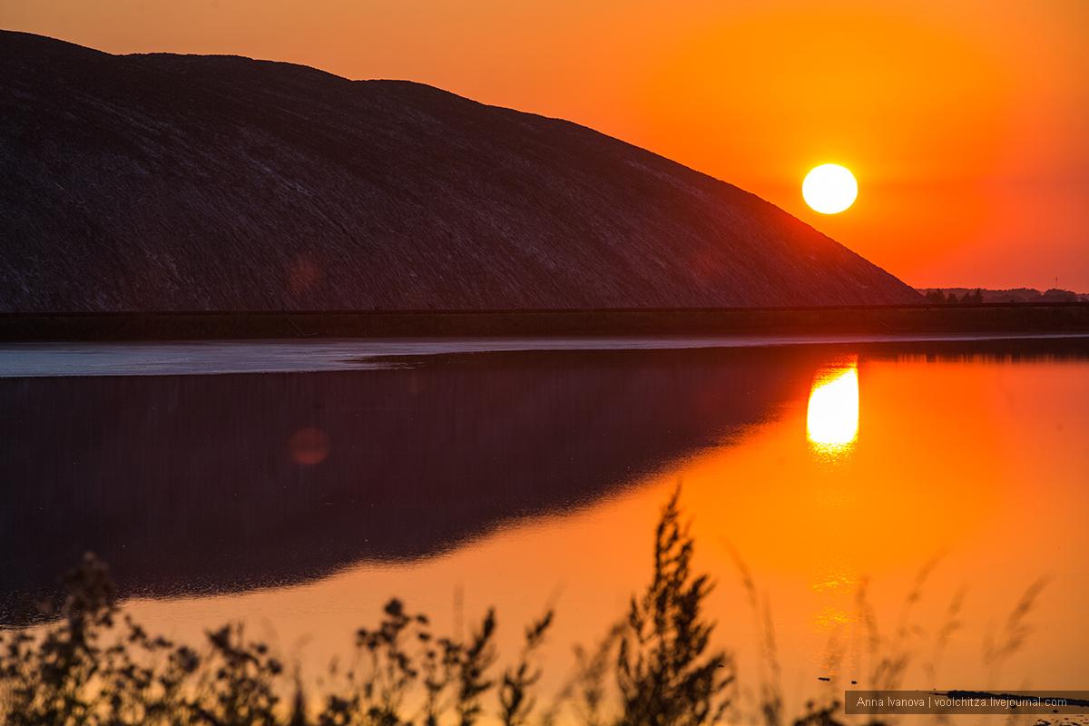 Солигорские терриконы на закате