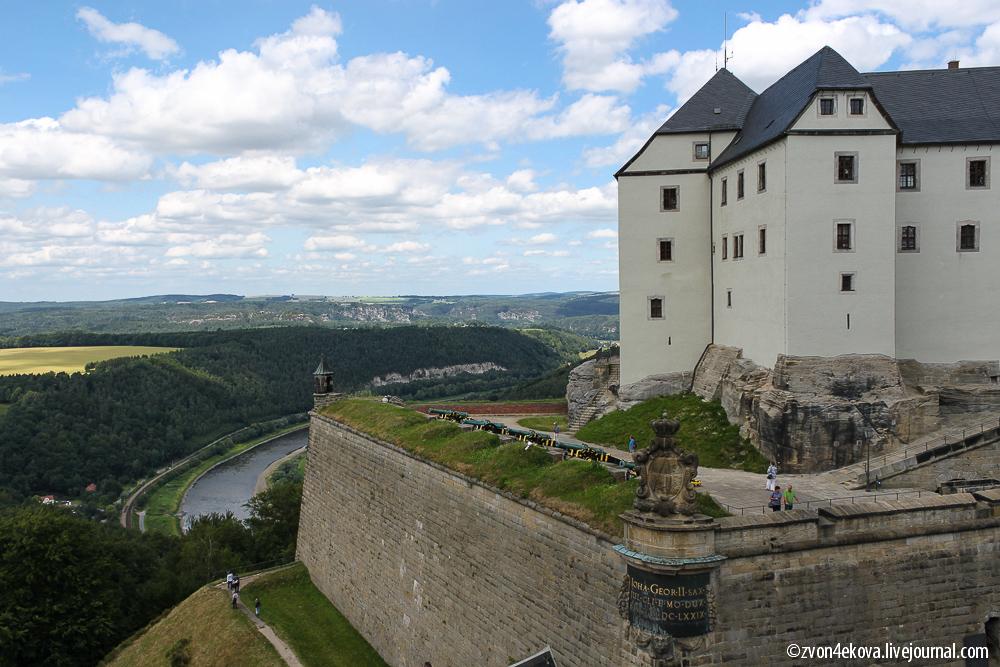Германия. Неприступная крепость Кёнигштайн