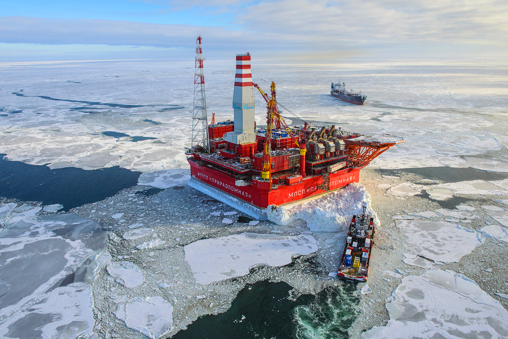How extract oil in the Arctic on the Prirazlomnaya platform 01
