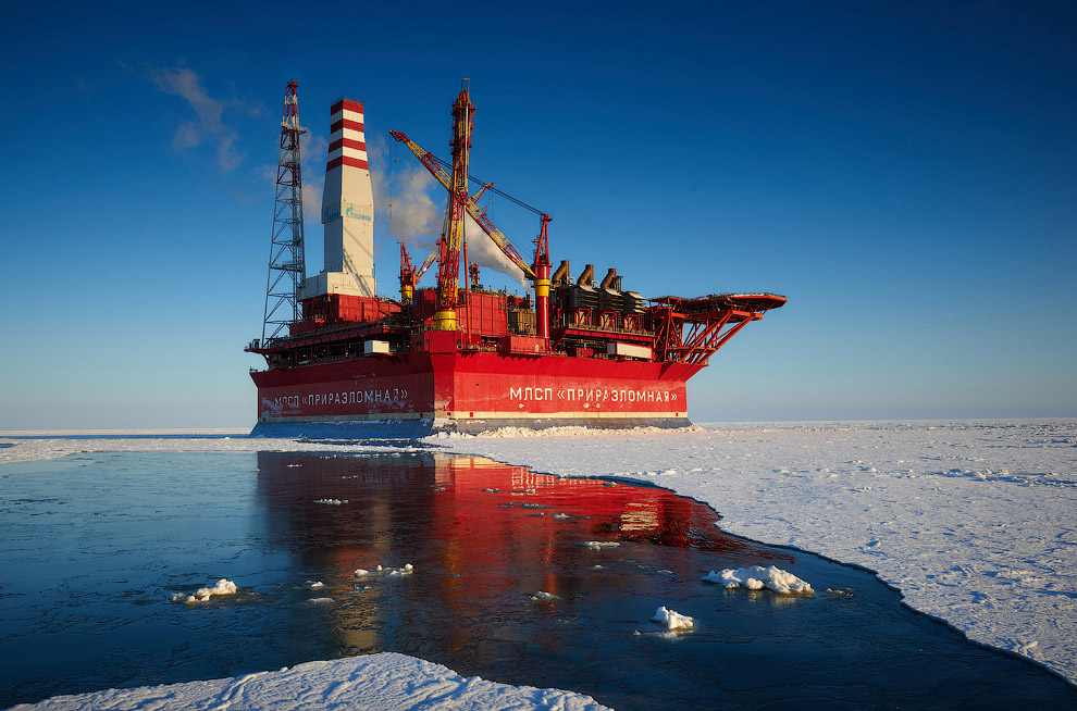 How extract oil in the Arctic on the Prirazlomnaya platform 34