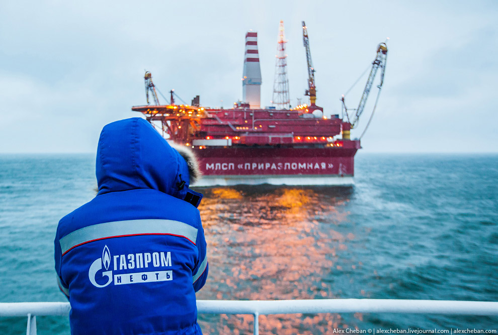 How extract oil in the Arctic on the Prirazlomnaya platform 35