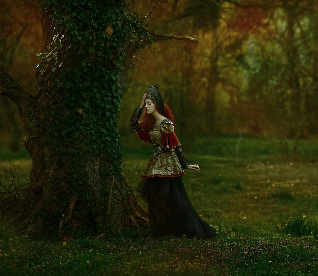 Magical images of women in the Welsh forests 11
