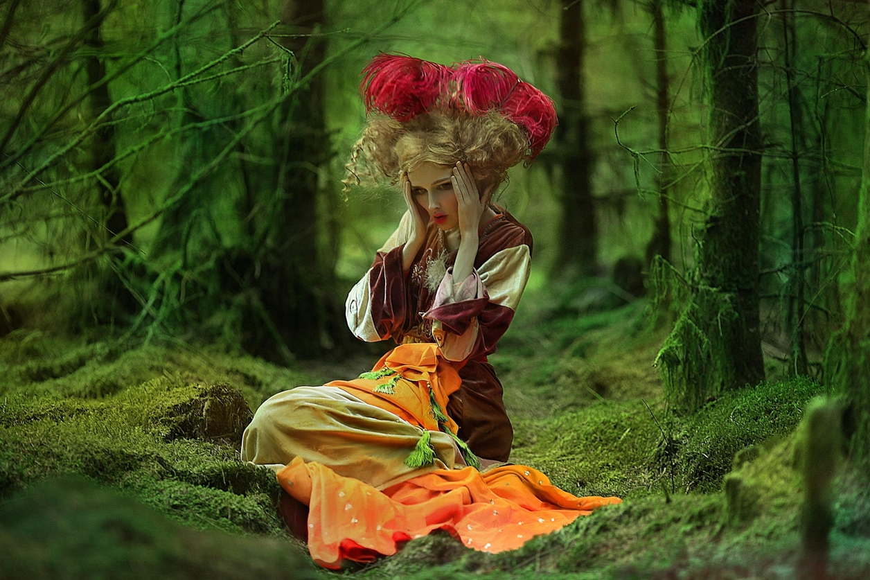Magical images of women in the Welsh forests 29