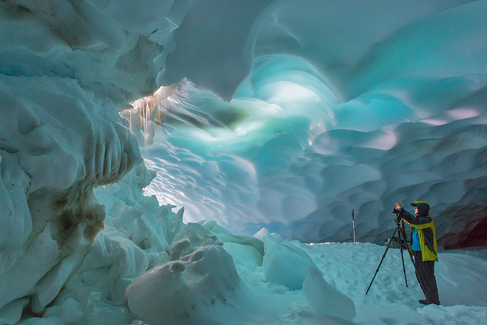 Pristine Kamchatka snow caves 05
