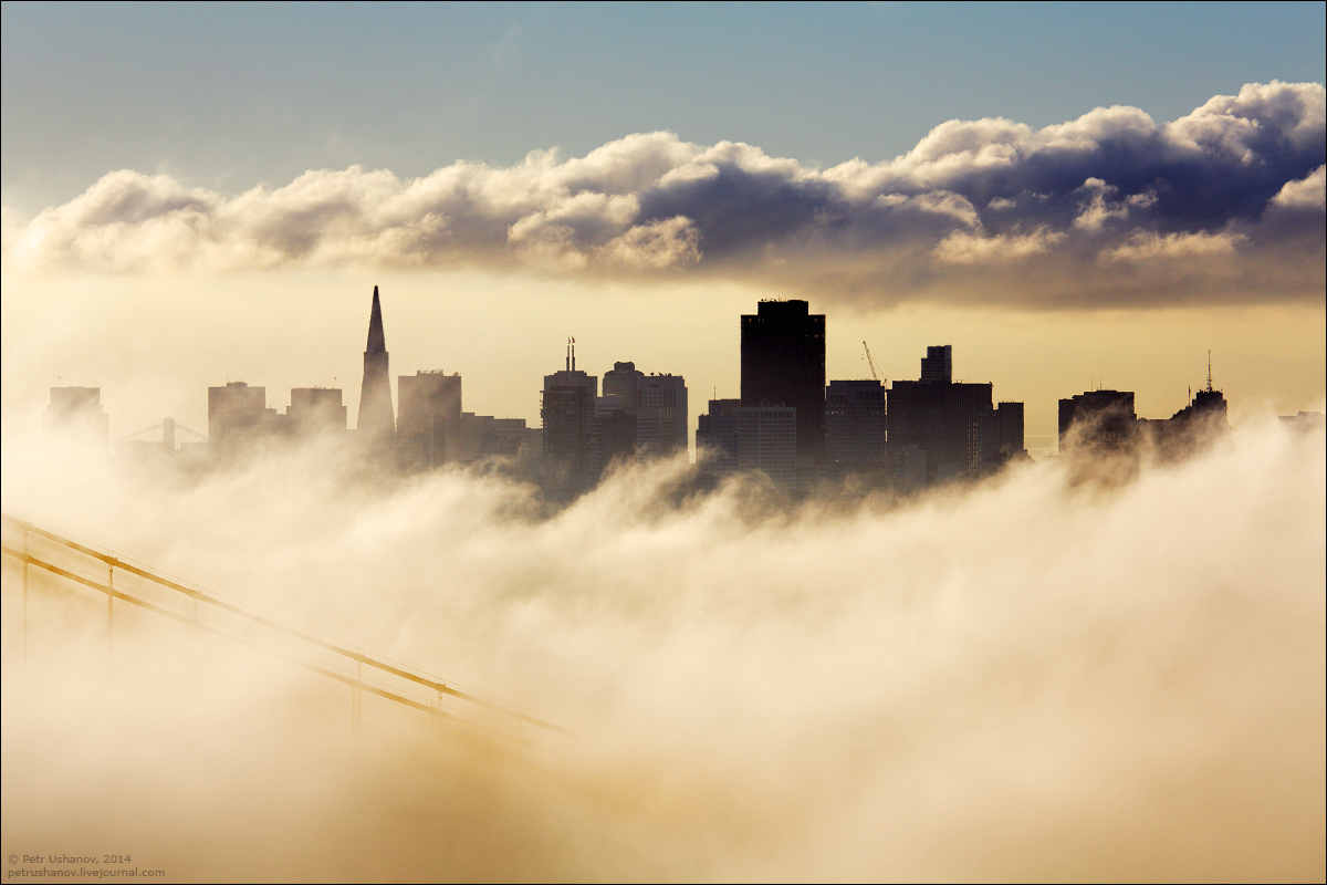 San Francisco is a City of bridges and fog 022